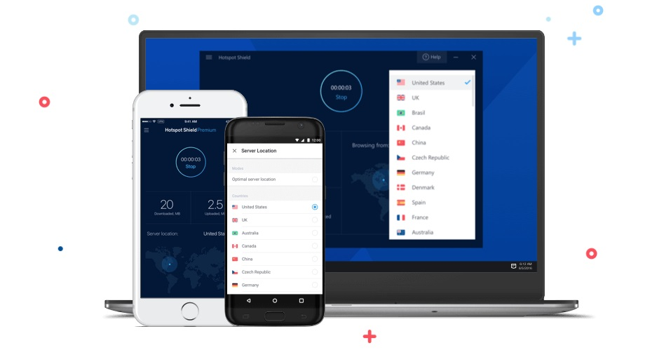 Hotspot Shield VPN gratis dispositivos compativeis
