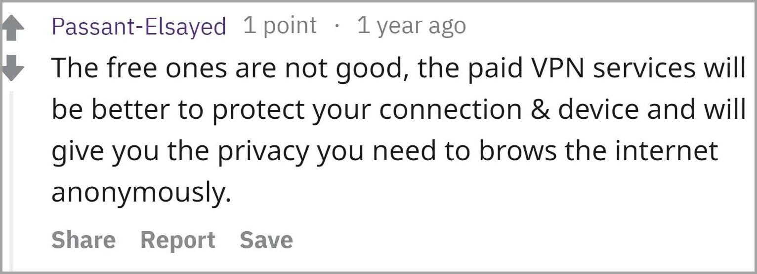 Reddit user review 3