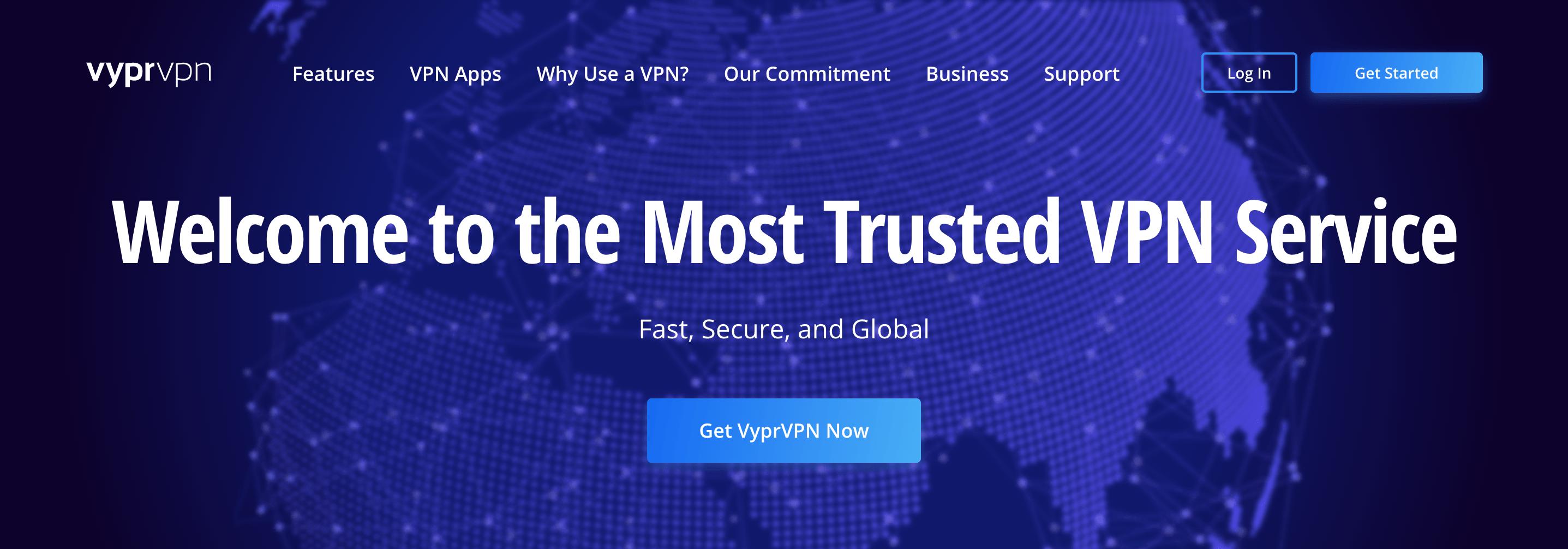 VyprVPN website homepage