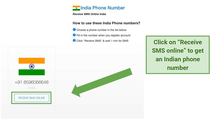 Graphic showing how to get an Indian Phone number to log in to Disney+Hotstar India