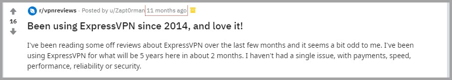 ExpressVPN user review 2