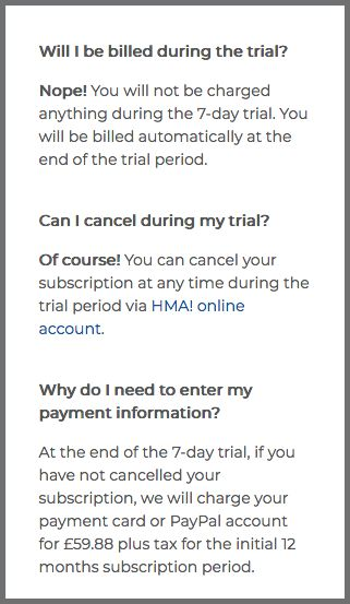 No bill during the trial