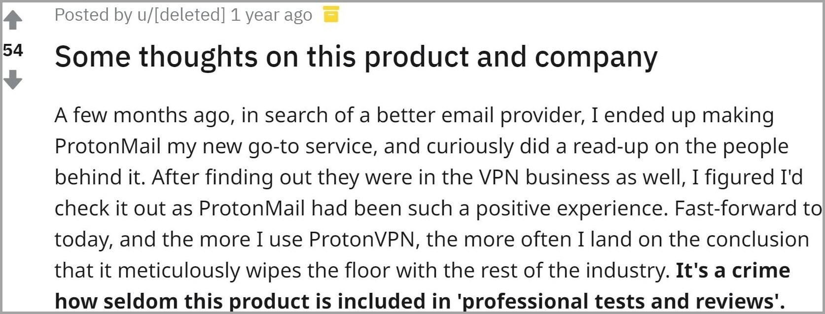 ProtonVPN user review 3