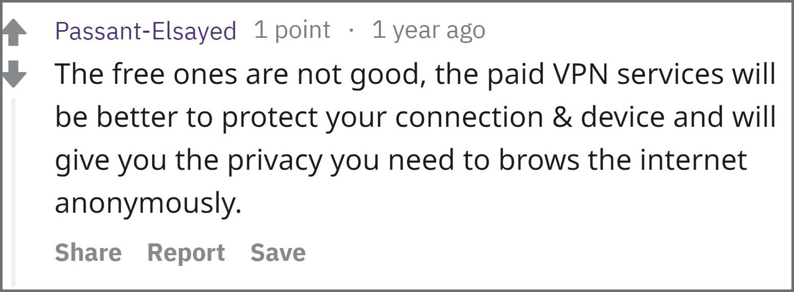 Do Not Use a Free VPN