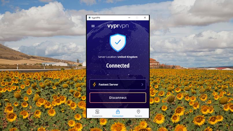 A screenshot of VyprVPN on macOS.