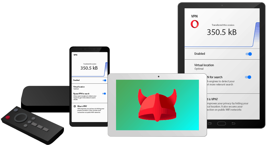 opera vpn android device