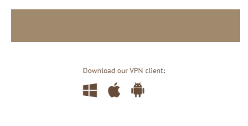 Android app download button on Anonymous VPN's website