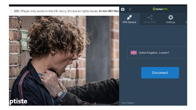 A screenshot of BBC iPlayer error message