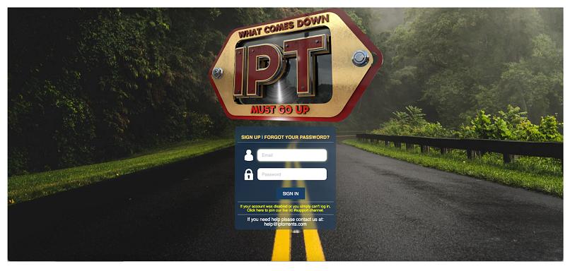 Graphic showing IPTorrents homepage