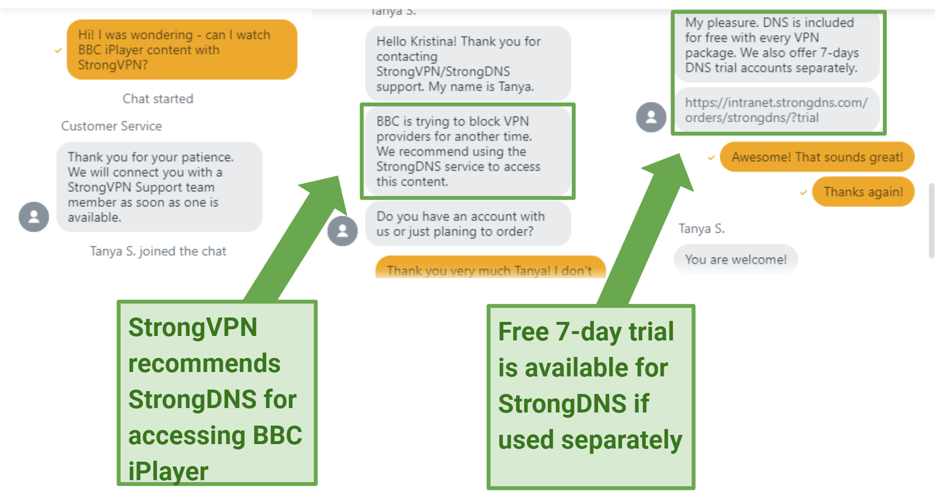 StrongVPN offers a very helpful and friendly live chat support