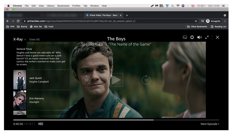 A screenshot of ZenMate unblocking Amazon Prime Video