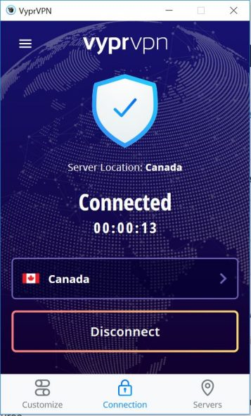 Connection status interface