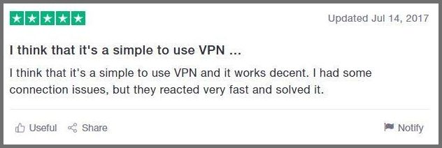 Generous VPN review