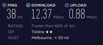 Speed test before connecting to Generous VPN.