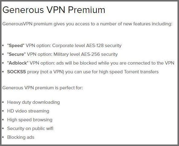 Generous VPN Premium