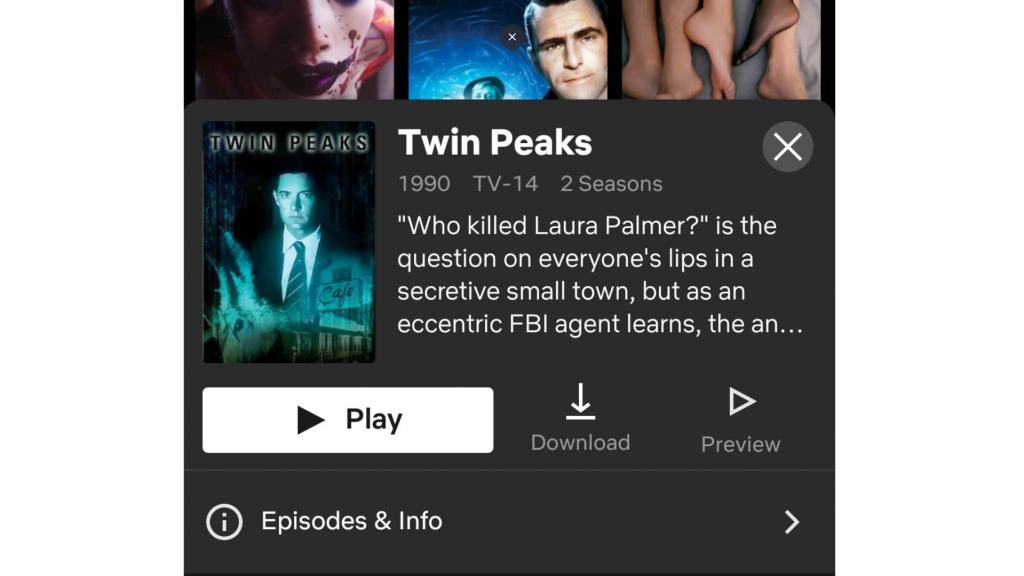 A screenshot of HideIPVPN unblocking Twin Peaks.