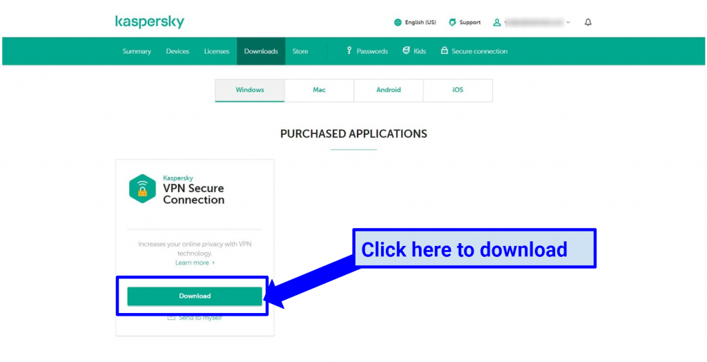 Graphic showing Kaspersky Secure interface