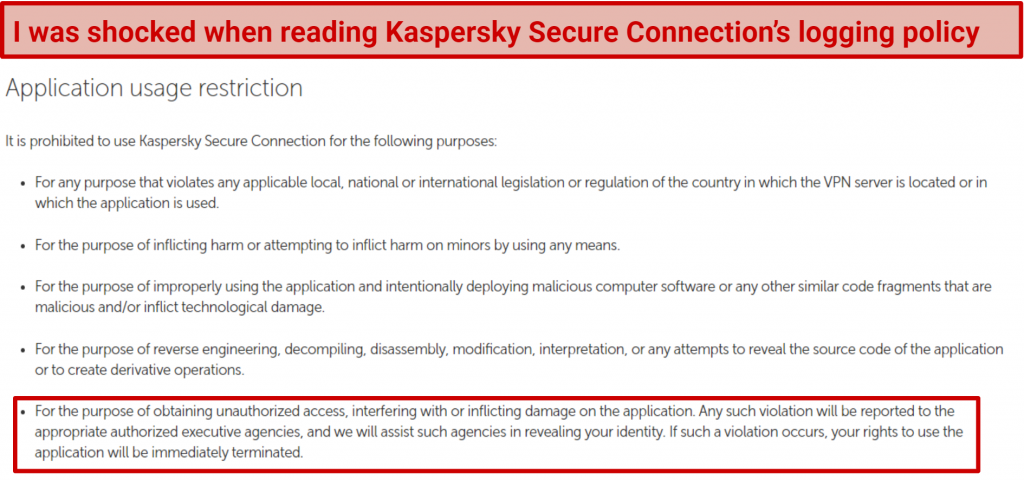 Graphic showing Kaspersky Secure logging practices