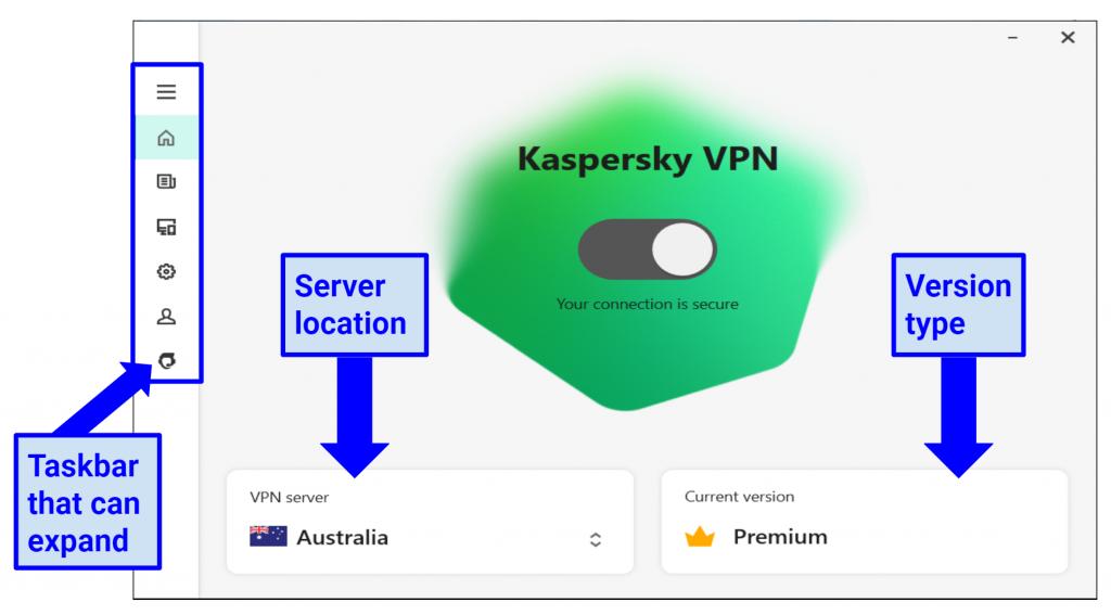 Graphic Showing Kaspersky Secure app