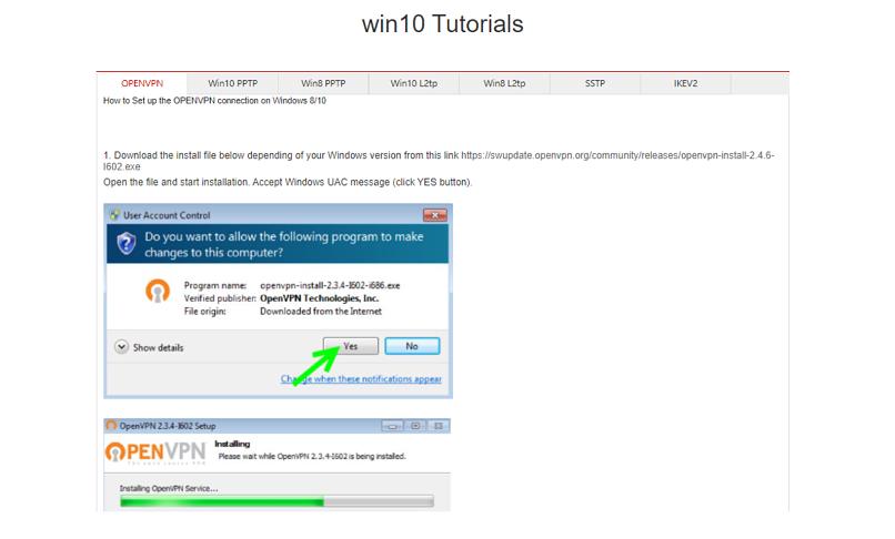 A screenshot of NetflixVPN's Win10 tutorial