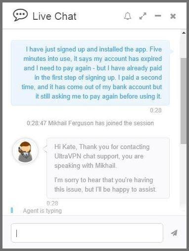Live chat regarding account expiration - part 2