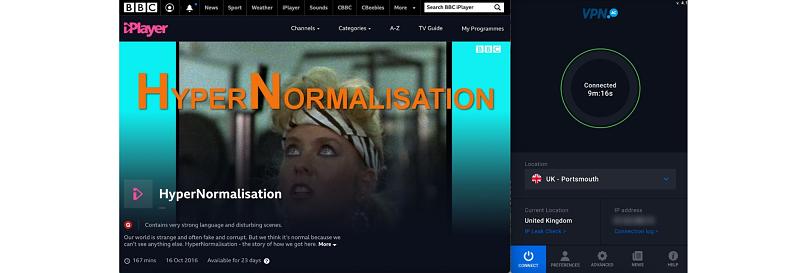 Screenshot of BBC iPlayer streaming HyperNormalisation