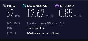 Speed test before connecting to ZenMate