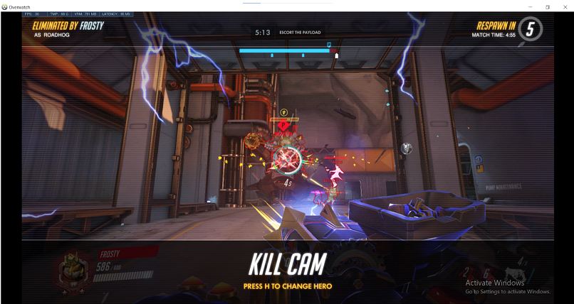 A screenshot of gaming with ZorroVPN