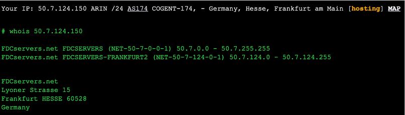 A screenshot of my ZorroVPN server tests