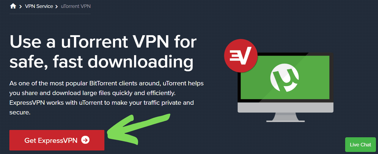 ExpressVPN allows torrenting on all of its servers.