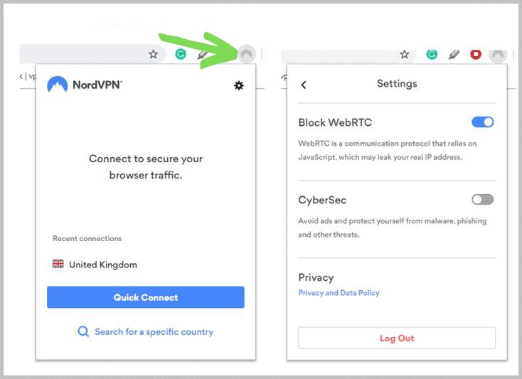 NordVPN browserextensie
