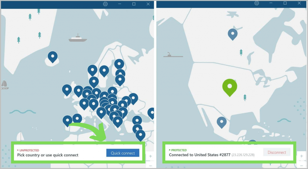 NordVPN Quick Connect Image