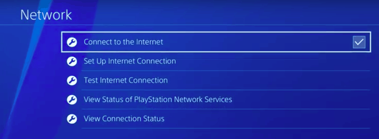 PS4 connect to internet
