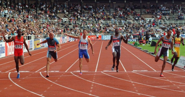 Sprinters at the Finish Line