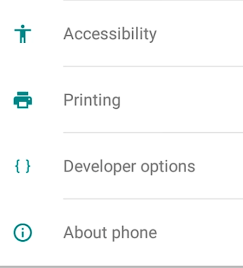 Android Settings Interface 2