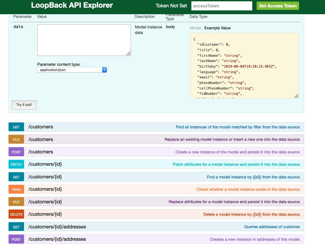Aliznet API Explorer