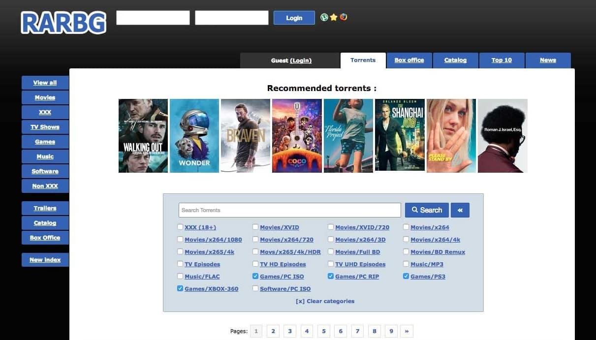 RARBG Homepage
