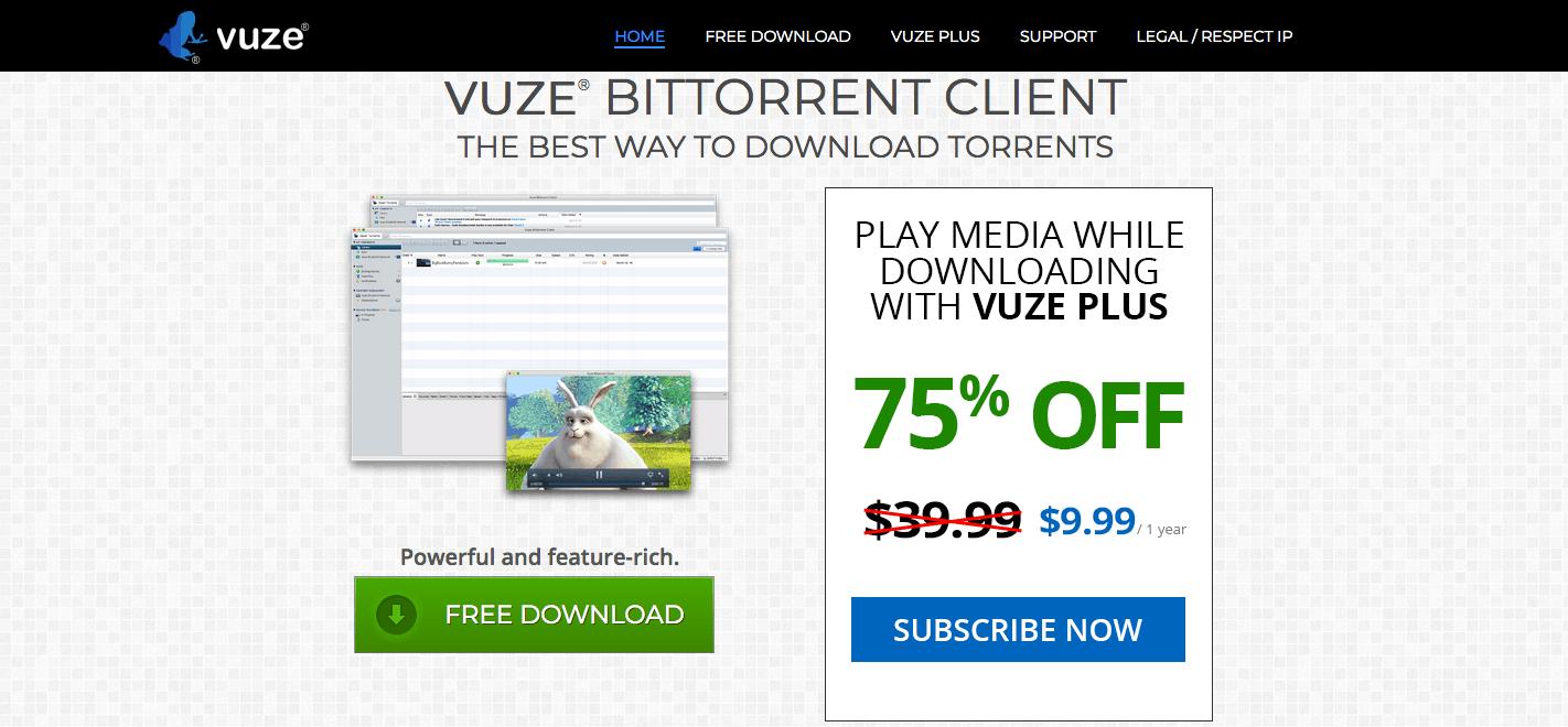 Vuze screenshot