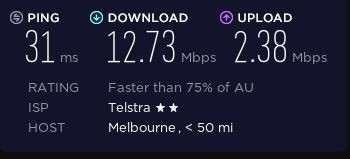 Speed test before connecting to BroVPN.