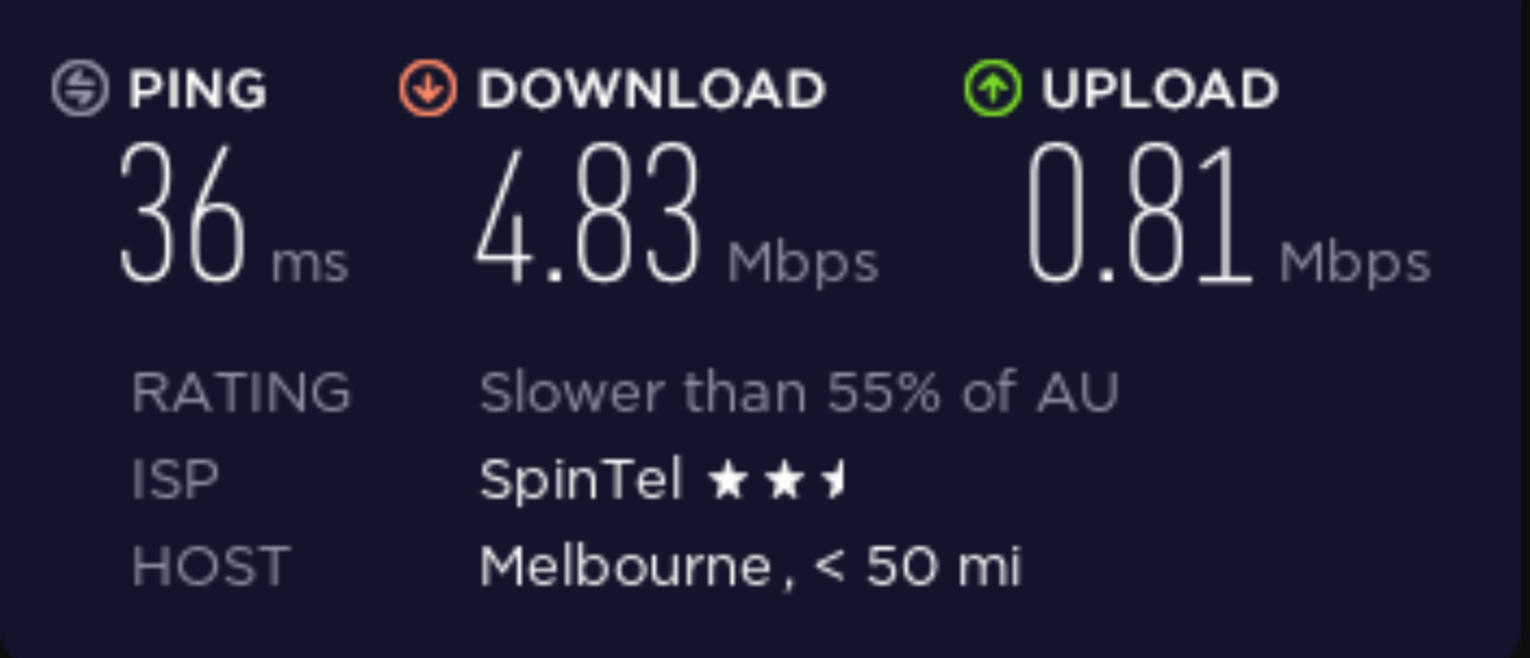 Speed test before connecting to casvpn.