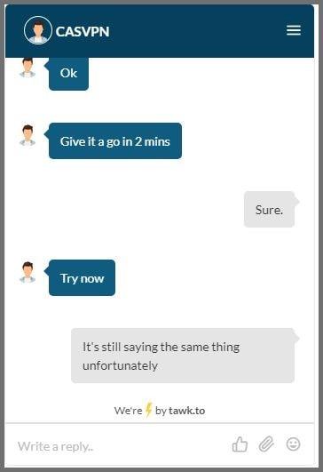 Refund process error