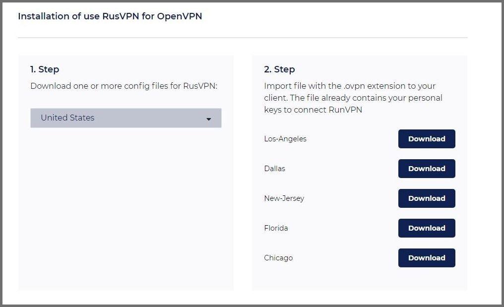 Installing RUSVPN for OpenVPN