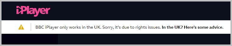 BBC iPlayer georestriction error