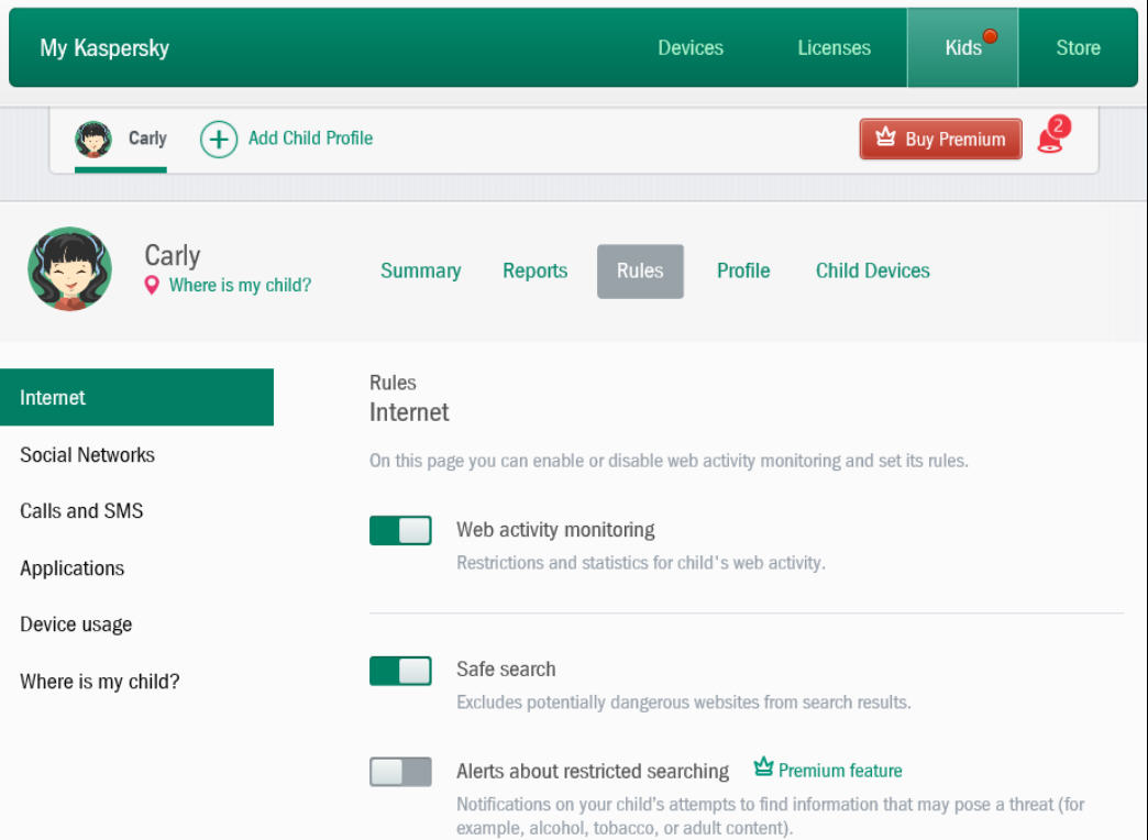 Kaspersky Safe Kids Parental Control App