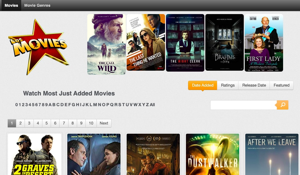 Los Movies Homepage