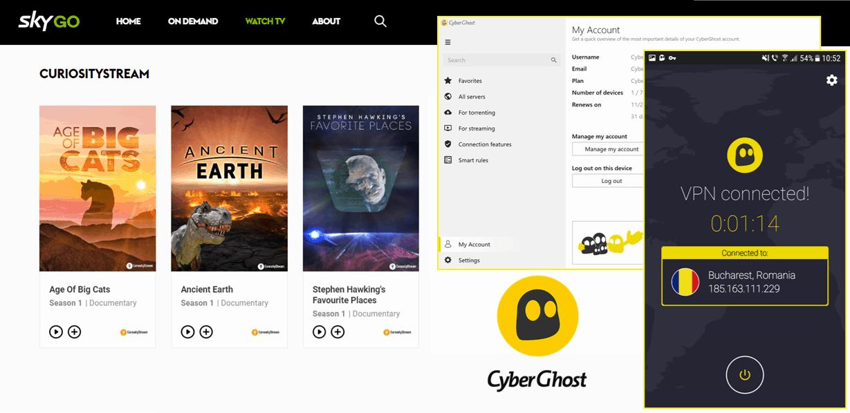 Sky Go - CyberGhost VPN