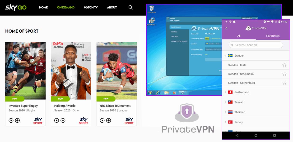 Sky Go - PrivateVPN