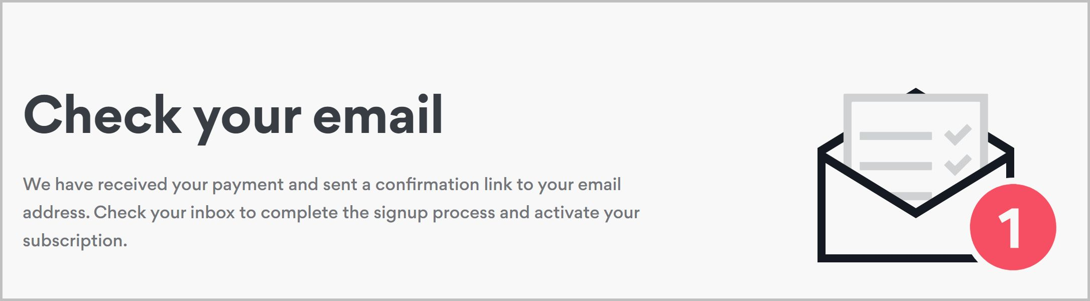 Email sign up screenshot