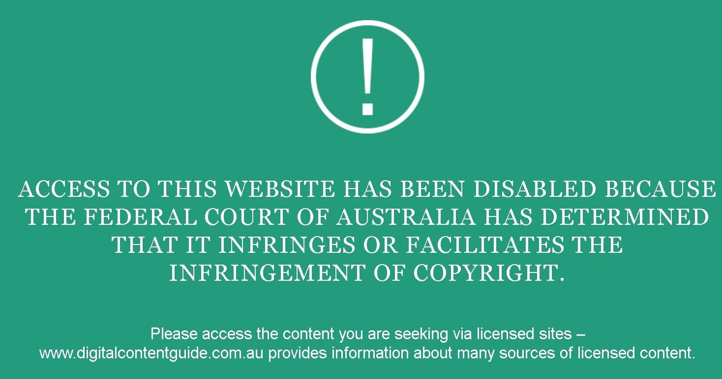 Copyright notification