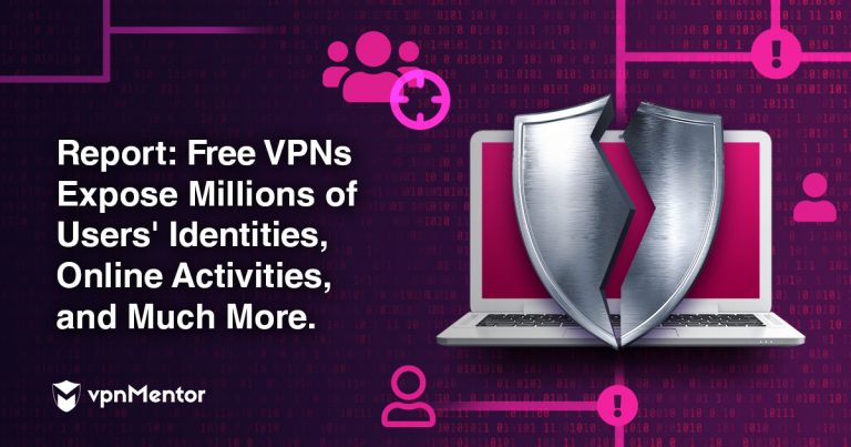 """image with text """"free vpns expose millions of users identities, online activities, and much more"""""""